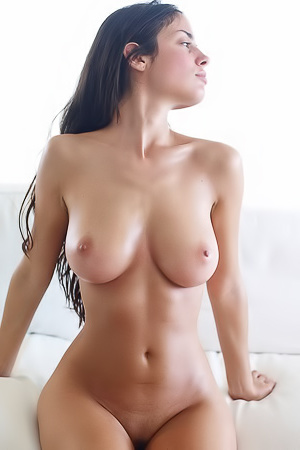 Dark-haired girl fully nude
